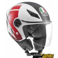 Mũ Bảo Hiểm 3/4 AGV Blade chuẩn DOT (trắng/ đỏ) (size: L/ XL)