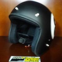 Mũ bảo hiểm 3/4 Dammtrax (số 8 đen nhám)