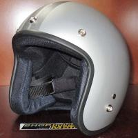 Mũ bảo hiểm 3/4 Dammtrax bạc nhám sọc xám