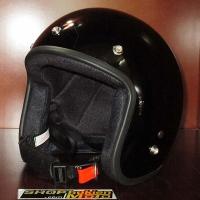 Mũ bảo hiểm 3/4 Dammtrax (đen bóng)