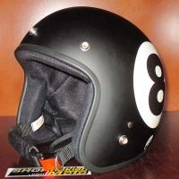 Mũ bảo hiểm 3/4 Dammtrax đen nhám số 8