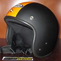Mũ bảo hiểm Andes đen nhám sọc cam