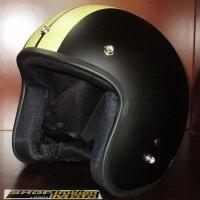 Mũ bảo hiểm 3/4 Dammtrax (đen sọc vàng)