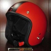 Mũ bảo hiểm dammtrax đỏ sọc đen nhám