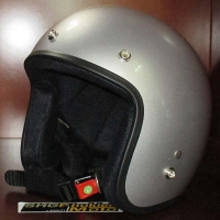 Mũ bảo hiểm 3/4 Dammtrax bạc bóng