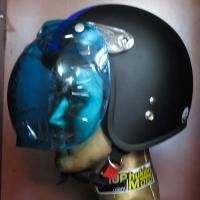 Kính Bubble Bulldog màu xanh gắn cho mũ bảo hiểm dammtrax (flip-up)