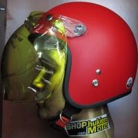 Kính bubble bulldog màu vàng gắn mũ bảo hiểm dammtrax (flip-up)