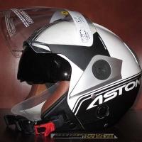Mũ bảo hiểm 3/4 2 kính Astone RS A2 (trắng/ đen)