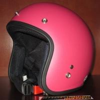Mũ bảo hiểm 3/4 Dammtrax (hồng nhám)