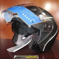Mũ bảo hiểm 3/4 HJC IS-33 chuẩn ECE (đen nhám sọc trắng)