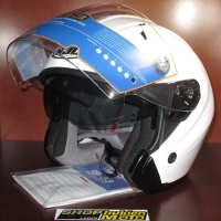 Mũ bảo hiểm 3/4 HJC IS-33 chuẩn ECE (trắng bóng)