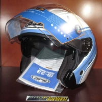Mũ bảo hiểm 3/4 HJC IS-33 chuẩn ECE ( văn trắng xanh)