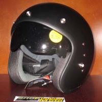Mũ Bảo Hiểm 3/4 OWL cafe racer (đen/nhám)