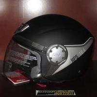 Mũ bảo hiểm 3/4 GIVI 10.4 (đen sọc bạc) (size: L/ XL)
