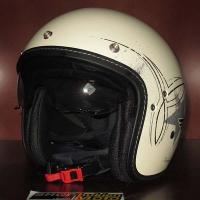 Mũ cafe racer 3/4 HJC FG 70s (Rocker Trắng) (size: L/ XL)