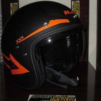 Mũ cafe racer 3/4 HJC FG 70s (Đen Xám Cam) (size: L/ XL)