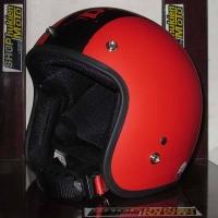 Mũ bảo hiểm 3/4 Dammtrax (Đỏ Nhám Viền Dammtrax Đen)