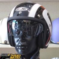 Mũ cafe racer 3/4 HJC FG 70s (Trắng đen bóng) (size: M/L/ XL)