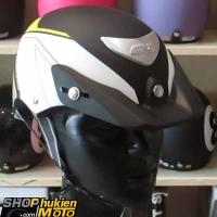 Mũ bảo hiểm 1/2 LOTO GIVI (đen trắng vàng/ nhám) (size M/ L)