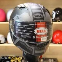 Mũ bảo hiểm Fullface BELL (Chuẩn: DOT, ECE) (Đen nhám sọc nhám) (Size: M/L/XL)