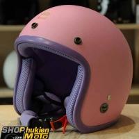 Mũ bảo hiểm 3/4 ROYAL M20 (Hồng nhạt nhám viền tím) (Size M/ L)