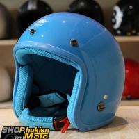 Mũ bảo hiểm 3/4 ROYAL M20 (Xanh da trời bóng viền xanh) (Size M/ L)