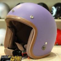Mũ bảo hiểm 3/4 ROYAL M20 (Tím nhám viền nâu) (Size: M/L)