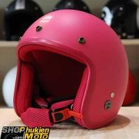 Mũ bảo hiểm 3/4 ROYAL M20 (Màu hồng đậm nhám viền hồng) (Size M/ L)