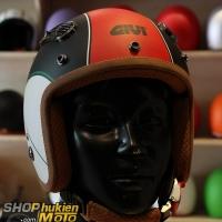 Mũ 3/4 GIVI Duho Graphics Tricolour Black (Size: M/L)