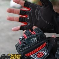 Găng tay cụt ngón Scoyco MC24D (đỏ/đen)