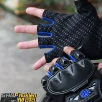 Găng tay scoyco cụt ngón mc29 (xanh dương/đen)