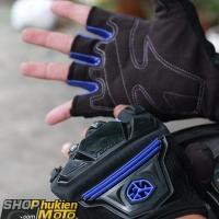 Găng tay cụt ngón Scoyco MC24D (đen/xanh)