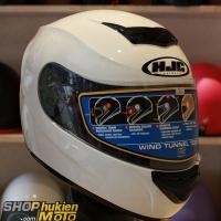 Mũ bảo hiểm Fullface HJC COOL (Trắng bóng) (Size: L/XL)