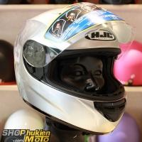 Mũ bảo hiểm Fullface HJC COOL (Bạc bóng) (Size: L/XL)