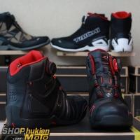Giày moto TAICHI RSS006 (đen/đỏ) (hàng chính hãng)