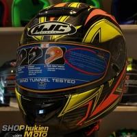 Mũ Bảo Hiểm Fullface HJC Cool ROCKER (Đen cam vàng) (size: M/L/XL)