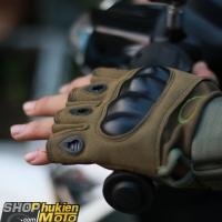 Găng tay OAKLEY CỤT Ngón (màu lính) (Size: M/L/XL)