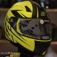 Mũ bảo hiểm Speed & Strength SS700 (Đen vàng nhám) (size: M/L)