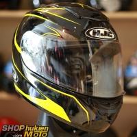 Mũ Bảo Hiểm Fullface HJC Cool Ultron (Đen bóng viền vàng) (Size: M/L)
