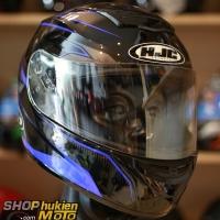 Mũ Bảo Hiểm Fullface HJC Cool Ultron (Đen bóng viền xanh đậm) (Size: M/L)