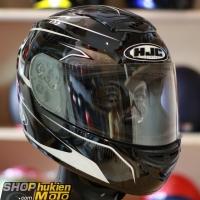 Mũ Bảo Hiểm Fullface HJC Cool Ultron (Đen bóng viền trắng) (Size: M/L)