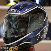 Mũ bảo hiểm Fullface HJC CL-Y (Xanh bóng viền đen trắng)