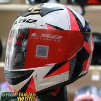 Mũ bảo hiểm Fullface LS2 FF352 Rookie (Hồng trắng đen bóng) (Size: S/M/L/XL/XXL)