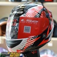 Mũ bảo hiểm Fullface LS2 FF352 Rookie (Đỏ trắng đen bóng) (Size: S/M/L/XL/XXL)