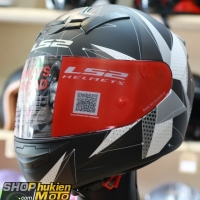 Mũ bảo hiểm Fullface LS2 FF352 Rookie (Đen trắng xám nhám) (Size: S/M/L/XL/XXL)