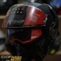 Mũ bảo hiểm Lật Cằm LS2 FF399 Valiant black (Size: M/L/XL)