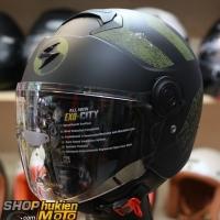 Mũ bảo hiểm 3/4 scorpion exo 83 city Heritage (màu Khaki nhám) (Size: M/L/XL)