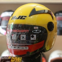 Mũ bảo hiểm 3/4 HJC HO-11 (vàng bóng)