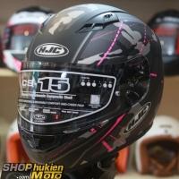 Mũ bảo hiểm fullface HJC CS-15 Songtan MC8SF (đen hồng xám nhám) (Size: M/L/XL)