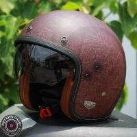 Mũ bảo hiểm 3/4 HJC FG 70s Vintage (xám nâu nhám) (size: M/L/ XL)